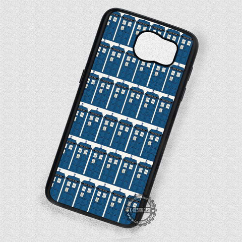 Tile Pattern Tardis Dr Who - Samsung Galaxy S7 S6 S5 Note 4 Cases & Covers