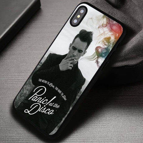 Too Weird Live And Die Panic At The Disco - iPhone X Case