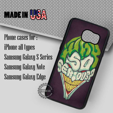 Face Villain Joker - Samsung Galaxy S7 S6 S5 Note 5 Cases & Covers
