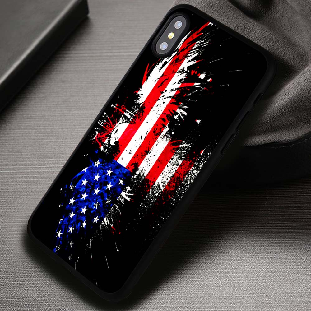 Vintage American Flag Iphone X 8 7 6s Se Cases Covers
