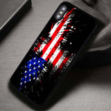 Vintage American Flag - iPhone X Case
