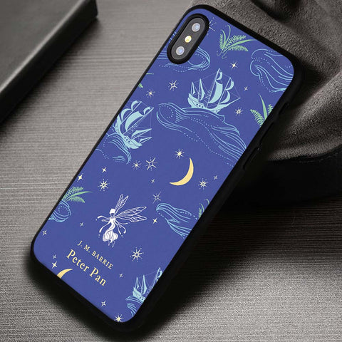 Vintage Book Story Cover Peter Pan - iPhone X Case
