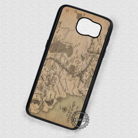 Vintage Map Image Middle Earth - Samsung Galaxy S7 S6 S4 Note 7 Cases & Covers