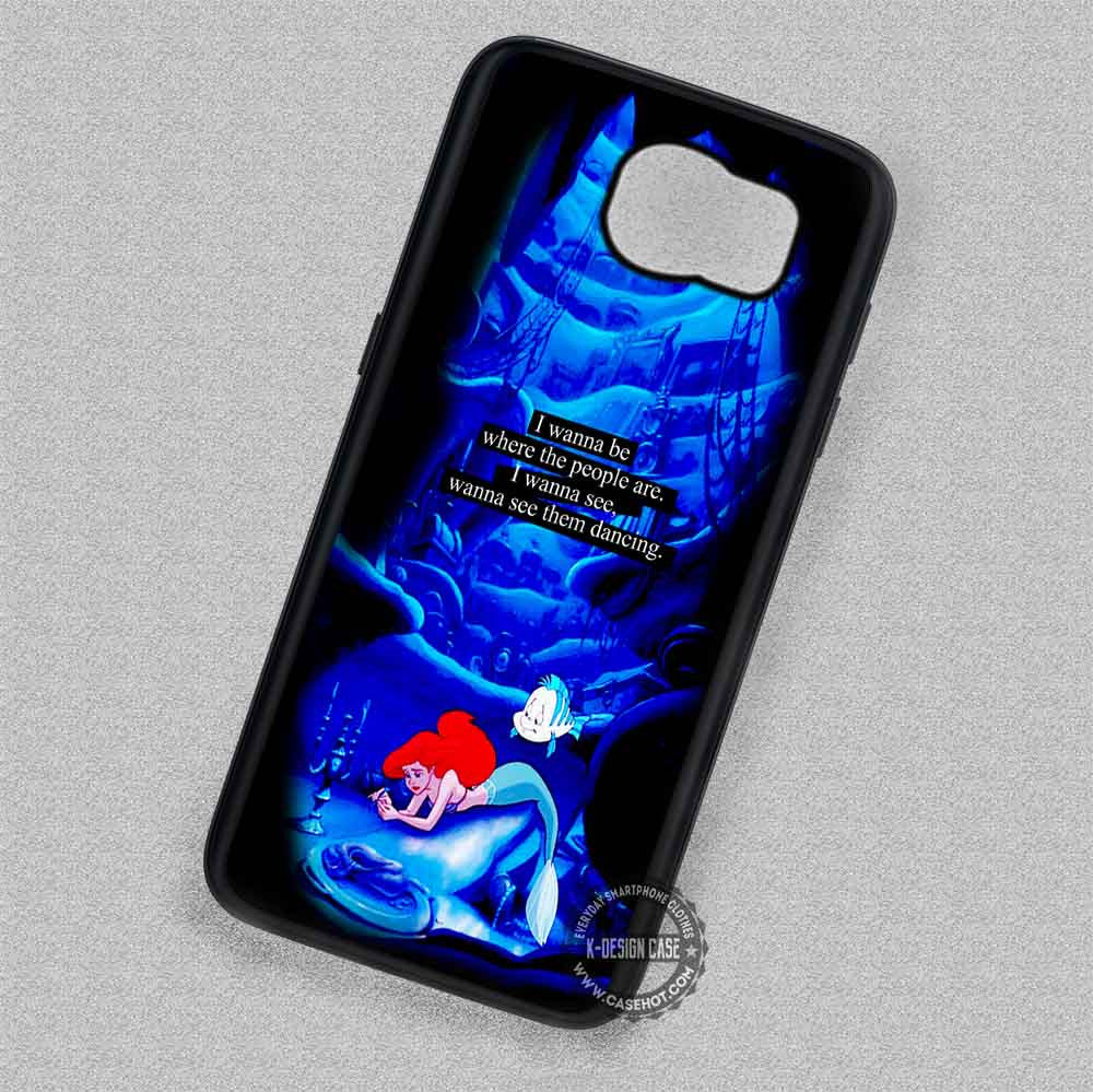 newest collection e66ab ed020 Little Mermaid Ariel Quote Cartoon - Samsung Galaxy S7 S6 S5 Note 7 Cases &  Covers