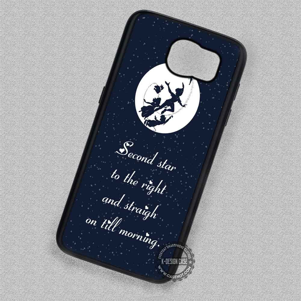 white full moon with quote peter pan samsung galaxy s7 s6 s5 note 7 cases