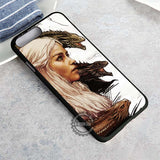 White Haired Lady With Her Dragons - iPhone 8+ Case