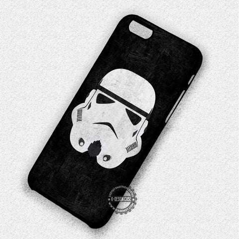 White Helmet On Black Star Wars - iPhone 7 6 5 SE Cases & Covers