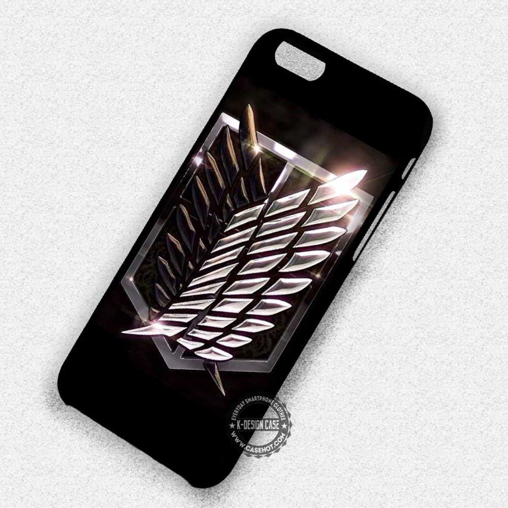 wings of freedom attack on titan 1 iphone case