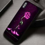 Withered Rose Princess Rose Glass - iPhone X Case