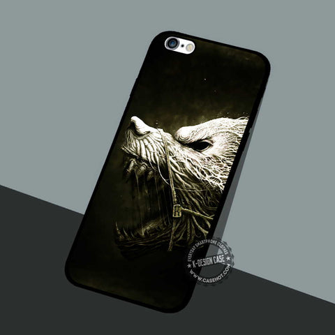 Wolf Teeth Drawing - iPhone 7 6 5 SE Cases & Covers