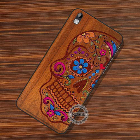 Wooden Sugar Skull Colors - LG Nexus Sony HTC Phone Cases and Covers