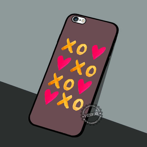 XOXO Heart Painted - iPhone 7 6 5 SE Cases & Covers