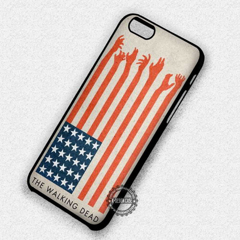 Zombie's Hands America Flag The Walking Dead - iPhone 7 6 5 SE Cases & Covers