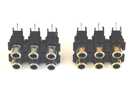 Vestax 6-Way Horizontal RCA Block