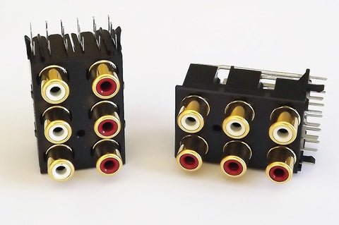 Vestax 6-Way Vertical RCA Block