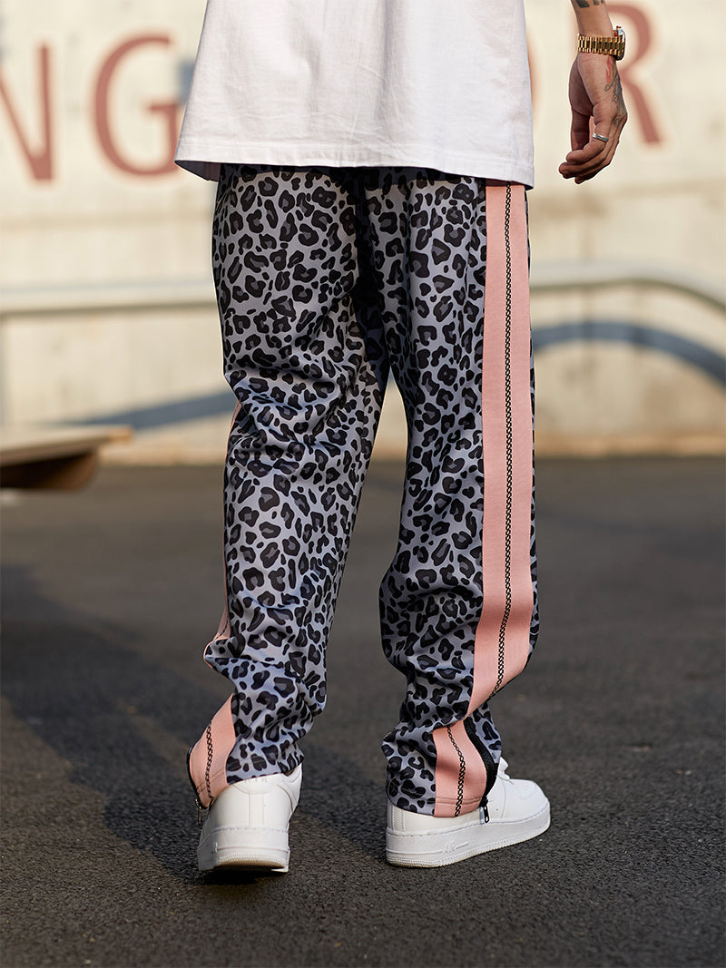 Gray Leopard Jogger Pants