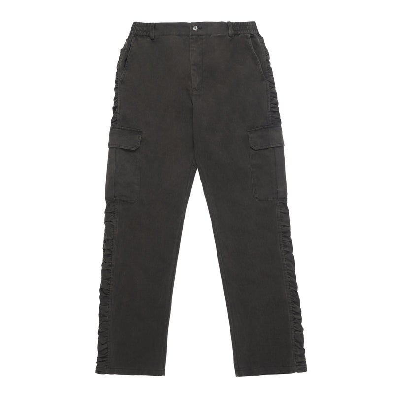 Black washed Pleated Pants