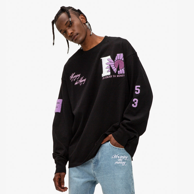 Terry Embroidered Logos Throughout Sweatshirt