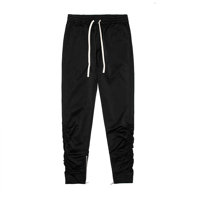 Zipper wrinkle close up casual Pants
