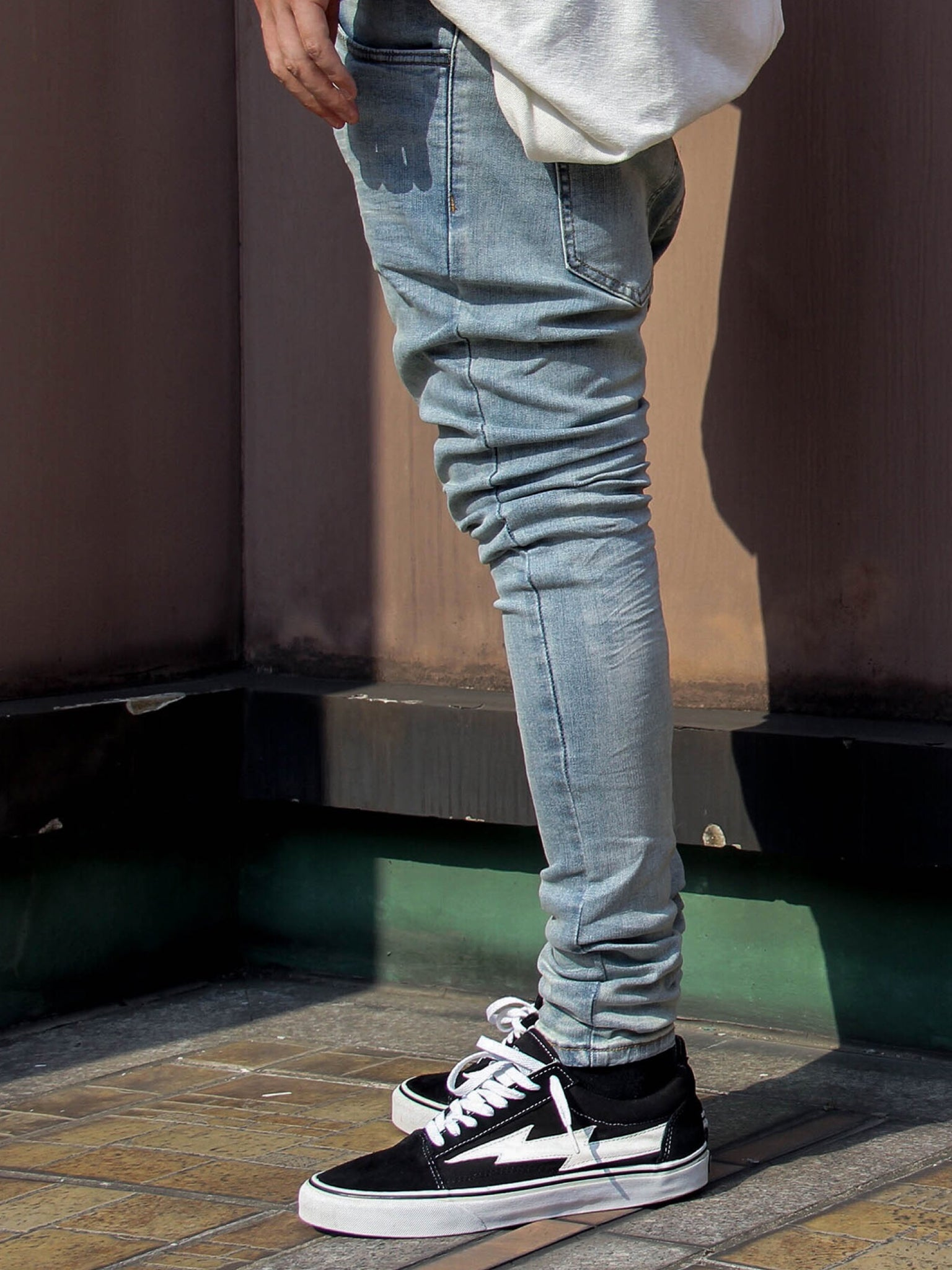 SKINNY WASHED RETRO JEANS