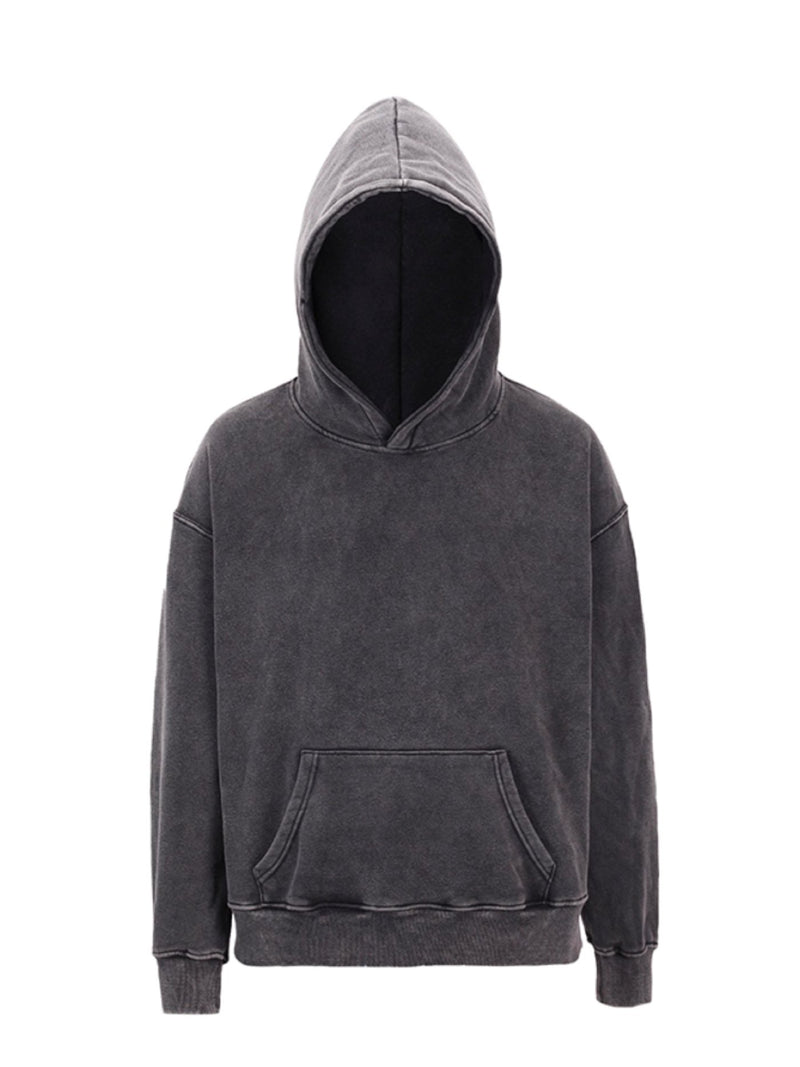 VNTCH Black washed Oversize Hoodie
