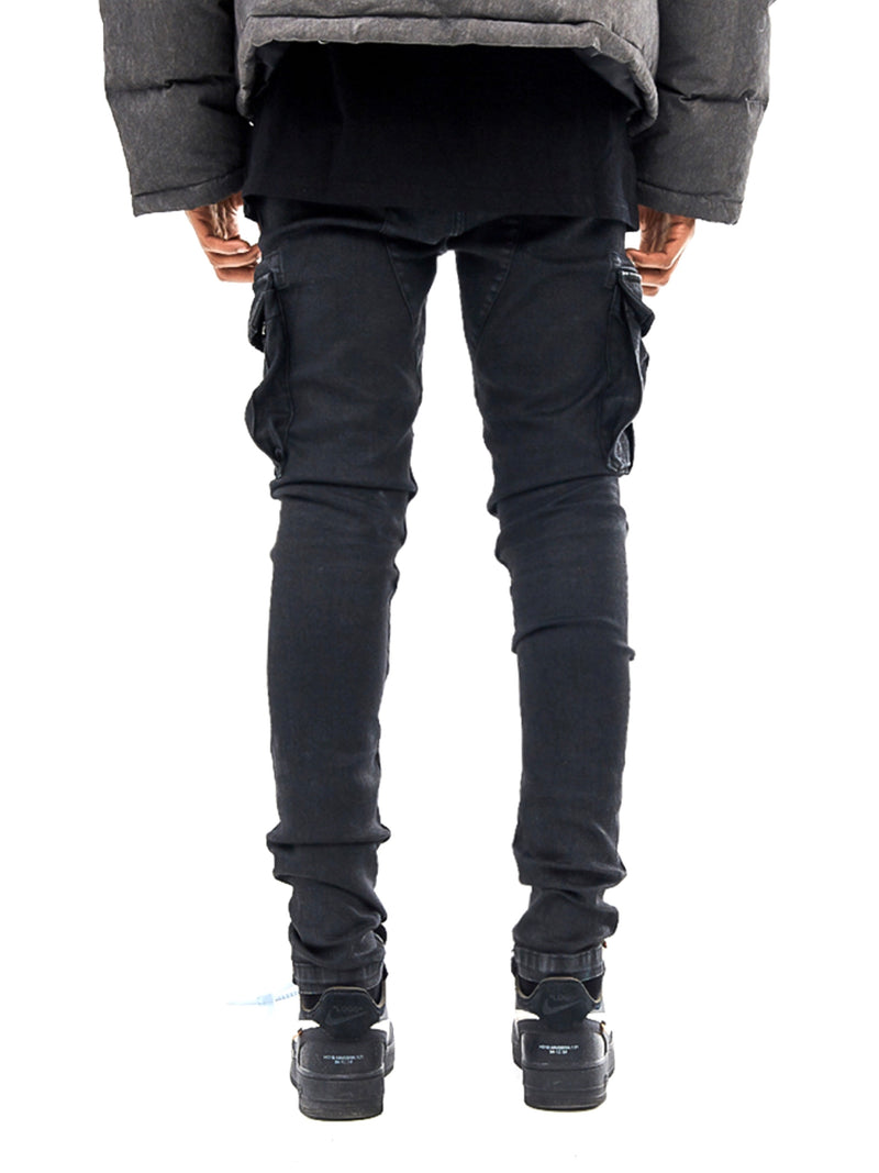 BRUSHED WAX CARGO DENIM
