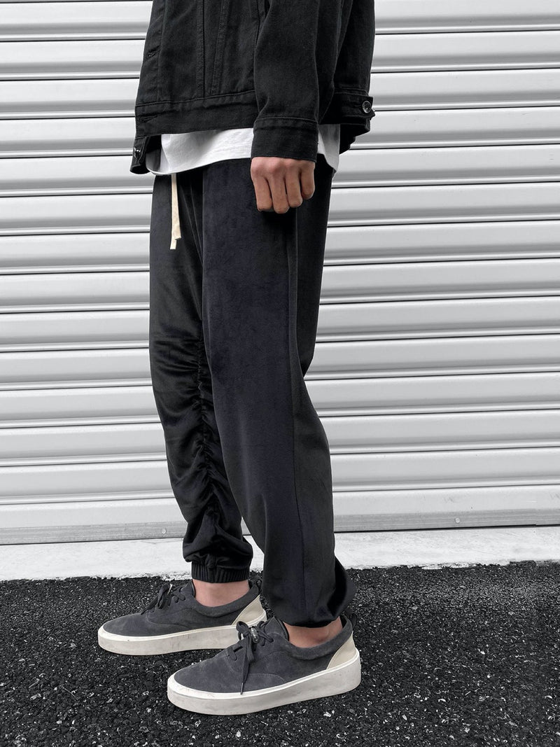 VNTCH high wrinkled velvet pants