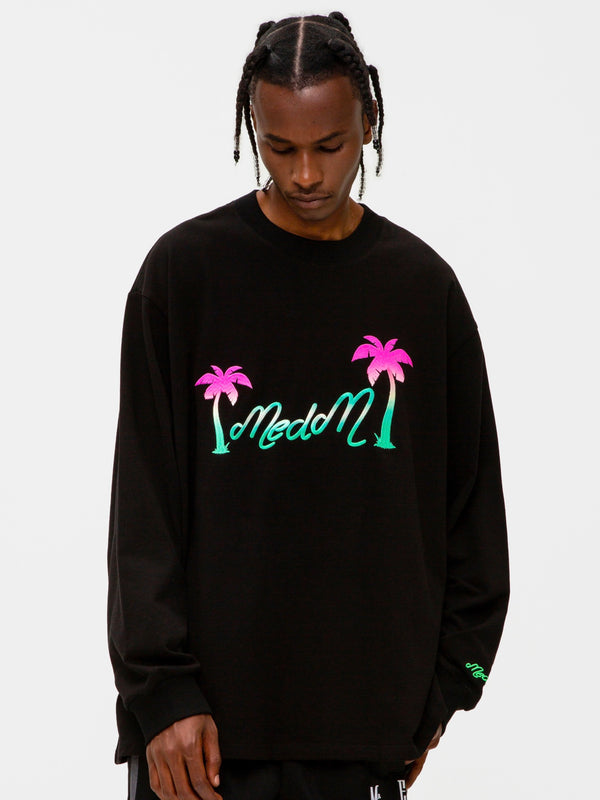 Palm Gradient Embroidery long sleeve Shirt