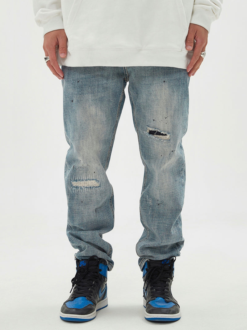 Baggy ripped Denim