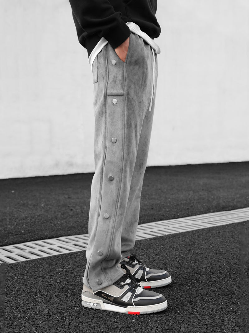 Side-breasted Drawstring Pants