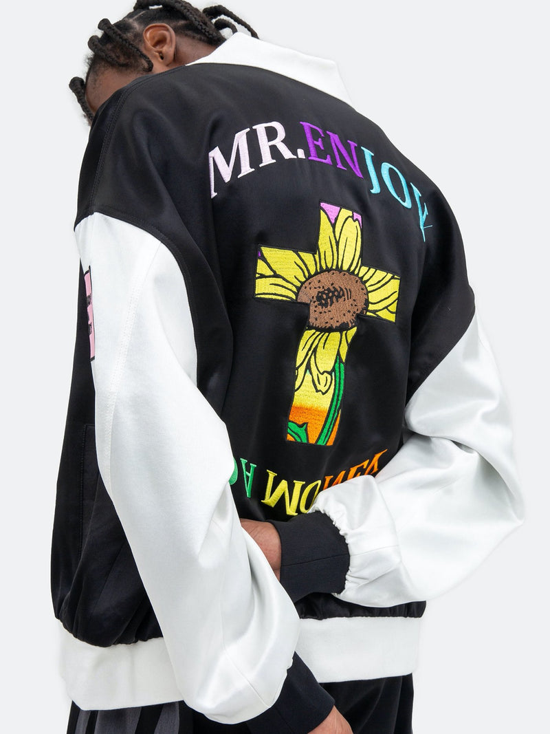 Color-Block embroidery Jacket
