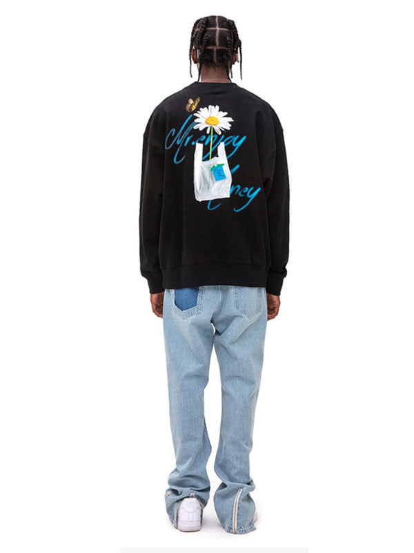 Daisy Dreams round crewneck heavy sweater