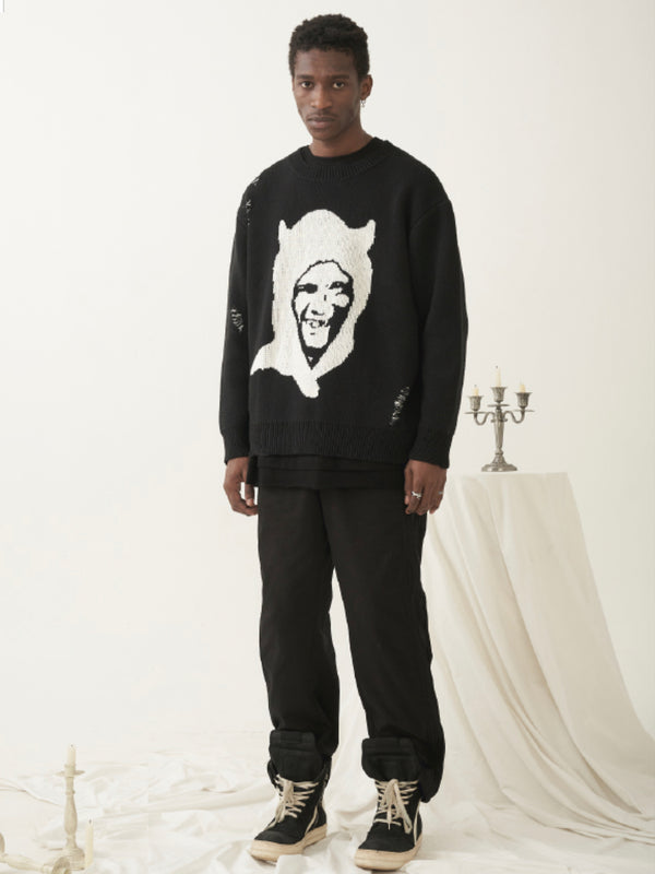 Black Demon Knitted Sweater
