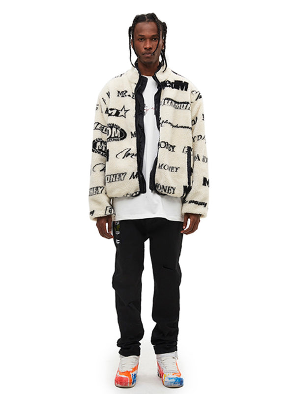 White Double-faced Cotton-padded Jacket