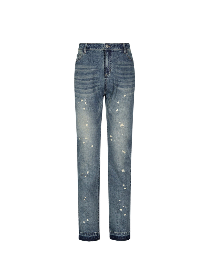 Washed high street micro flared Jeans