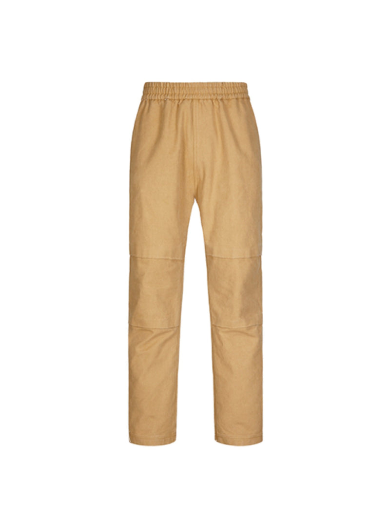 Military buttoned straight loose Fit Pants Khaki