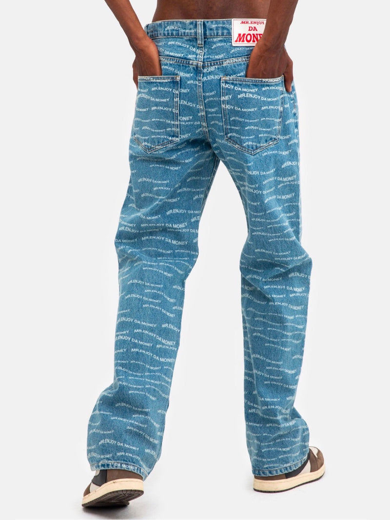 MEDM WAVY Full Print Loose Fit Jeans
