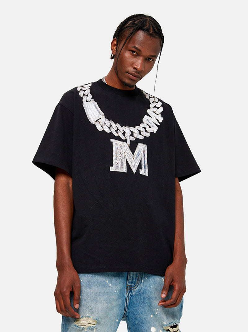 Diamond Necklace Oversize T-Shirt
