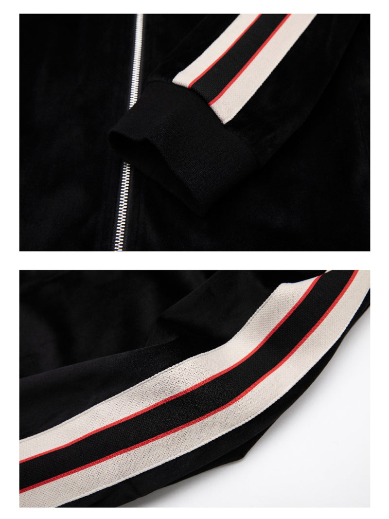 VNTCH SIDE STRIPE STITCHING VELVET JACKET