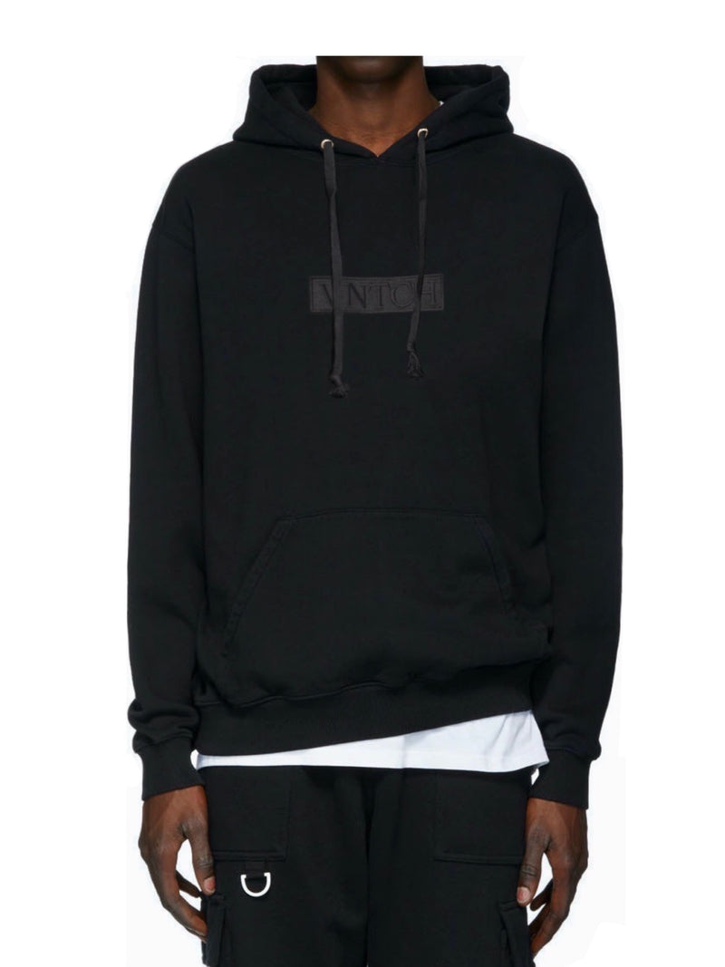 CROPPED OVERSIZE HOODIE BLACK