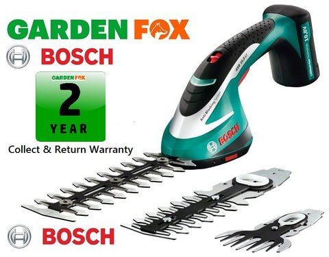New £102.97 Bosch ASB10,8Li CORDLESS HEDGETRIMMER SET 0600856371 3165140560306