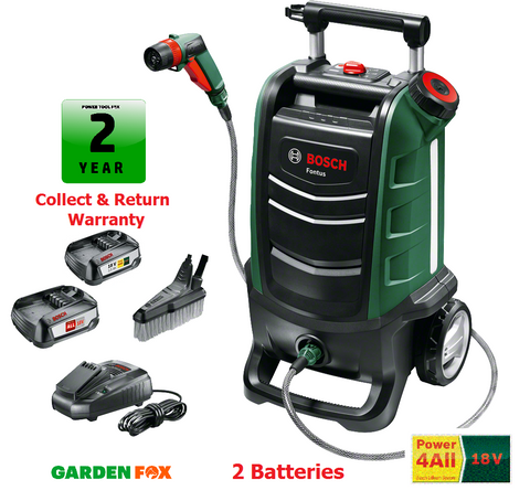 ( 2 Batteries ) new Bosch FONTUS 18V Cordless WASHER 06008B6070 3165140909105