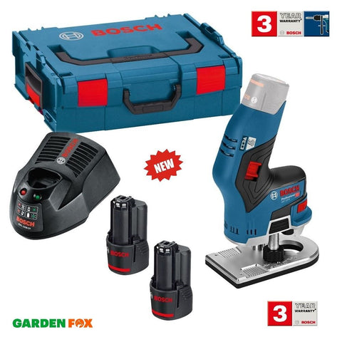 new Bosch GKF 12V-8 Cordless 12V ROUTER 2 Batteries 06016B0070 3165140909808