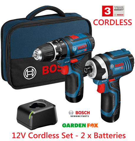 new Bosch COMBI Drill & IMPACT Driver 12V SET 06019A6979 3165140997003