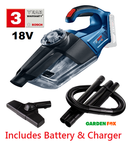 new Bosch GAS18V-1 - Vacuum Cleaner 06019C6200 3165140888677  WITH 18V/4.0AH Battery & Charger