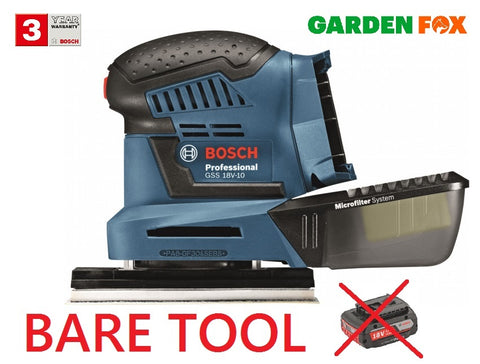 new BARE Bosch GSS18V-10 Orbital SANDER in CARTON 06019D0200 3165140813280