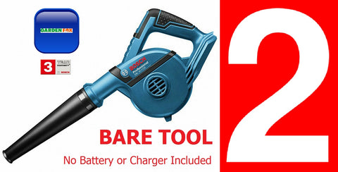 New £109.97 - 2 x BARE TOOL Bosch GBL18V-120 BLOWER (Inc extras) 06019F5100 3165140821049