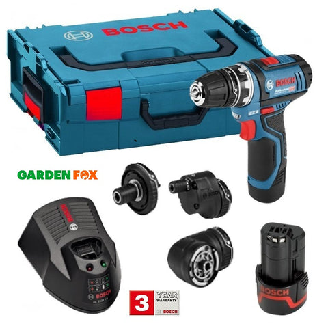 new Bosch GSR 12V-15 FC Combination KIT/SET 06019F6070 3165140847728