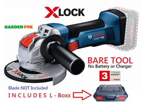 new Bare Tool BOSCH GWX 18V-8 L-Boxx Angle Grinder 06019J7000 3165140996938