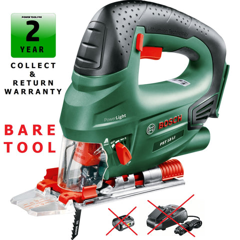 new £74.97 Bosch PST18Li BARE TOOL Li-ON-Cordless Jigsaw 0603011002 3165140577175